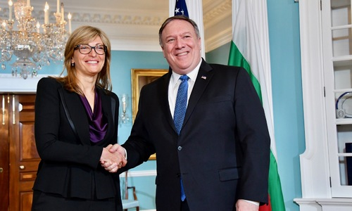 Ekaterina Zaharieva, Mike Pompeo Reconfirm Strategic Partnership Between Bulgaria, United States
