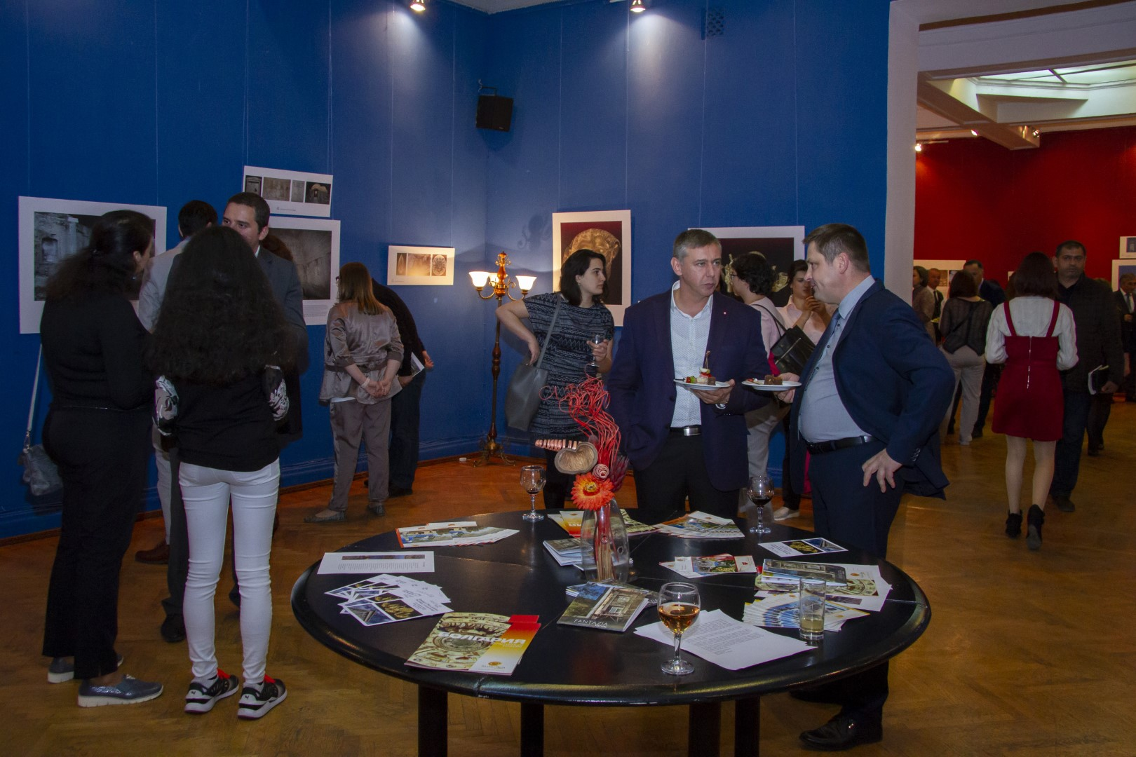 "The opening of the photo exhibition ""The Balkans, a shared heritage"" by the Bulgarian photographer Ivo Hadjimishev"