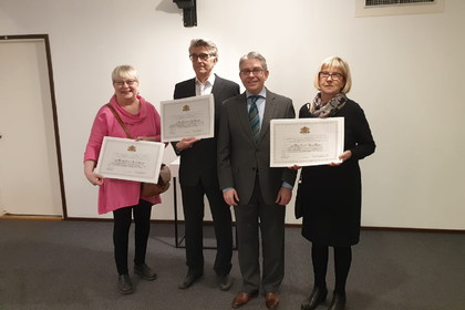 Three members of the Finnish-Bulgarian Friendship Association were honored with MFA diplomas